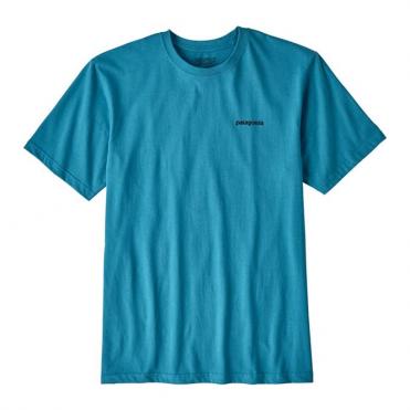 Patagonia P-6 Logo Cotton T-Shirt - Filter Blue