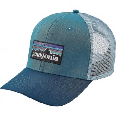 Patagonia P-6 Logo Trucker Cap - Filter Blue