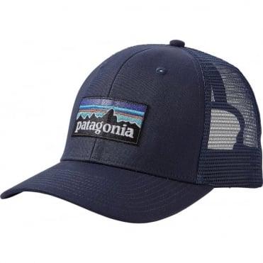 Patagonia P-6 Logo Trucker Cap - Navy Blue