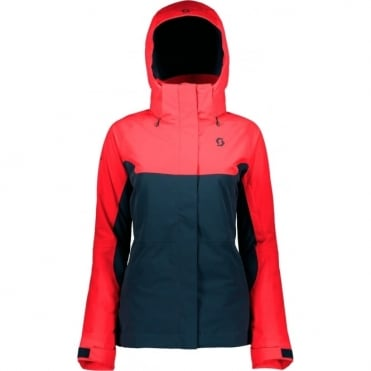 Scott Ultimate Dryo 40 Women's Jacket - Melon Red/Nightfall Blue