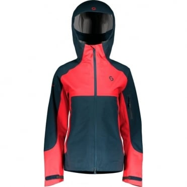 Scott Explorair 3L Women's Jacket - Nightfall Blue/Melon Red