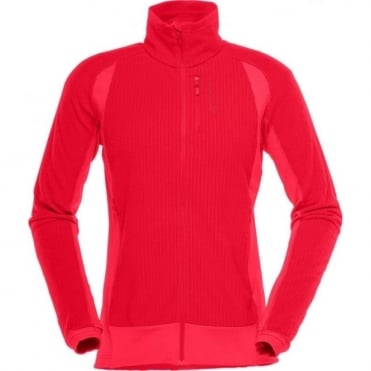Norrona lofoton warm1 Women's Fleece - Rebel Red