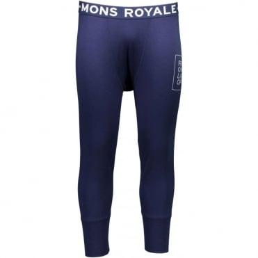 Mons Royale Shaun-Off 3/4 Long Johns FOLO - Navy