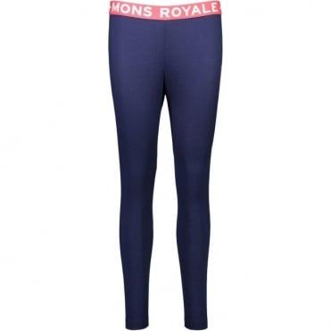 Mons Royale Christy Women's FOLO Leggings - Navy