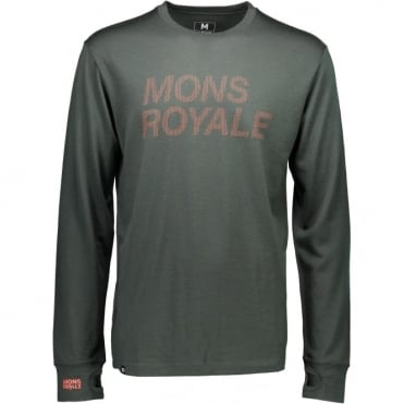 Mons Royale Original LS Itallica - Forest Green