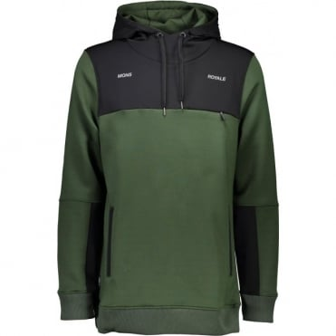 Mons Royale Transition Hoody - Forest Green/Black