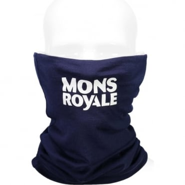 Mons Royale Double Up Vert Neckwarmer - Navy