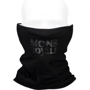 Mons Royale Double Up Vert Neckwarmer - Black