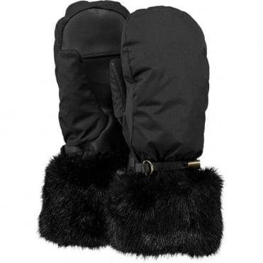 Barts Empire Women's Mittens - Black/Faux Fur