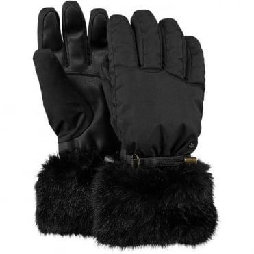 Barts Empire Women's Gloves - Black/Faux Fur
