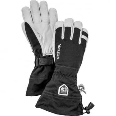 Hestra Army Leather Heli Ski Gloves - Black/White