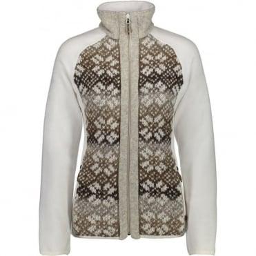 Campagnolo Women's Full Zip Knitted Fleece - Coffee