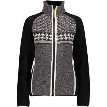 Campagnolo Women's Full Zip Knitted Fleece - Black