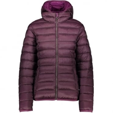 Campagnolo Woman's Zip Hood Jacket - Purple/Loden