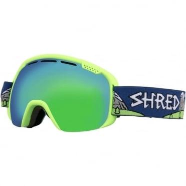 Shred Smartefy Goggles - NeedMoreSnow/Cobalt Green/Plasma
