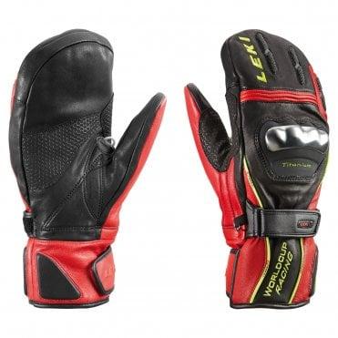 5fd95ae63148c7 Leki World Cup Titanium S Speed Ski Mitten - Black/Red
