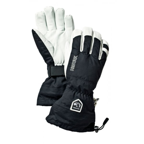 Hestra Mens Alpine Pro Army Leather Heli Ski Glove Black