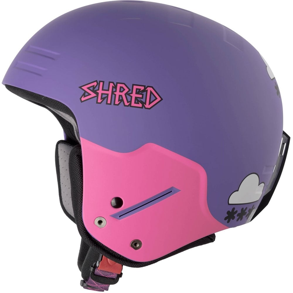 Shred Basher NoShock Helmet - Air Purple (FIS Approved) 6fcea06929a