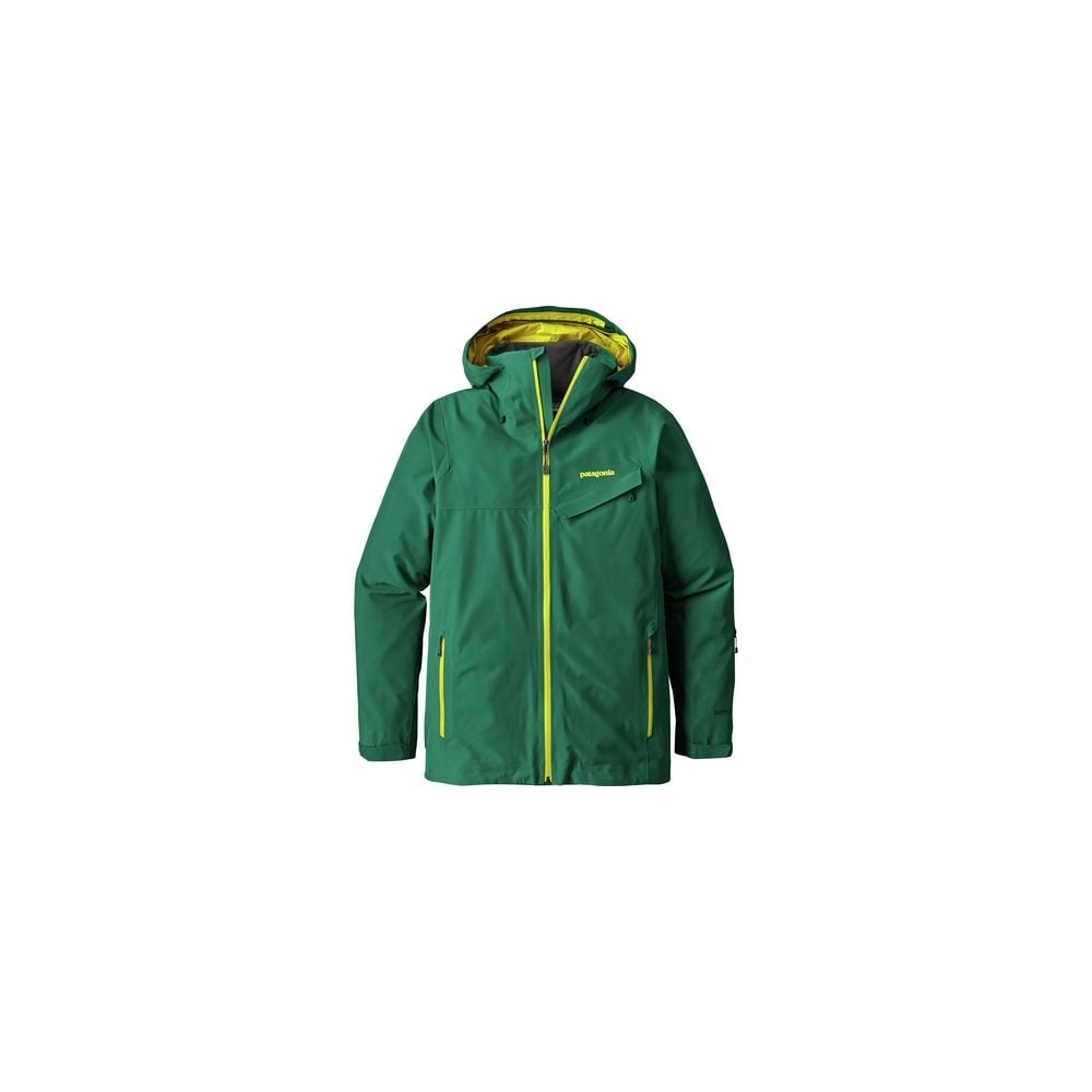 Patagonia Mens Powder Bowl Jacket - Green Yellow - Ski Clothing ... 3fade84ff164