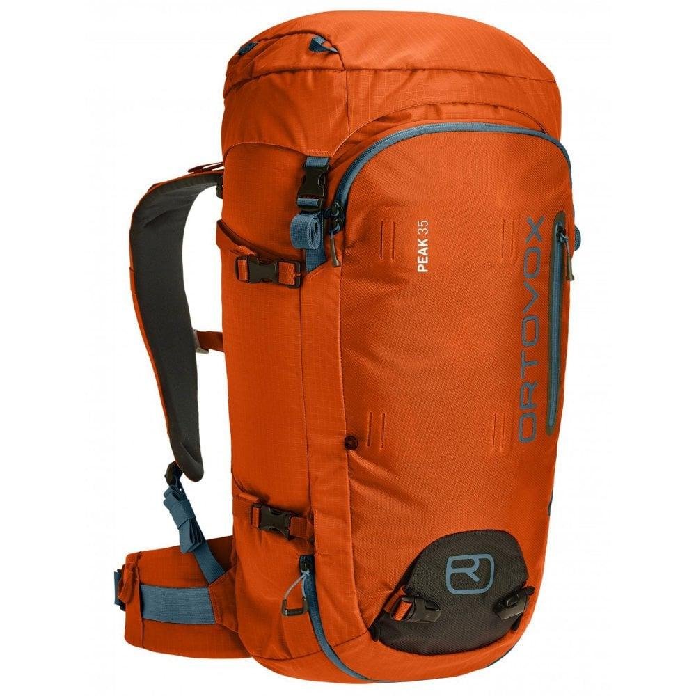 Ortovox Ski Backpack: Ortovox Peak 35L Backpack - Crazy Orange