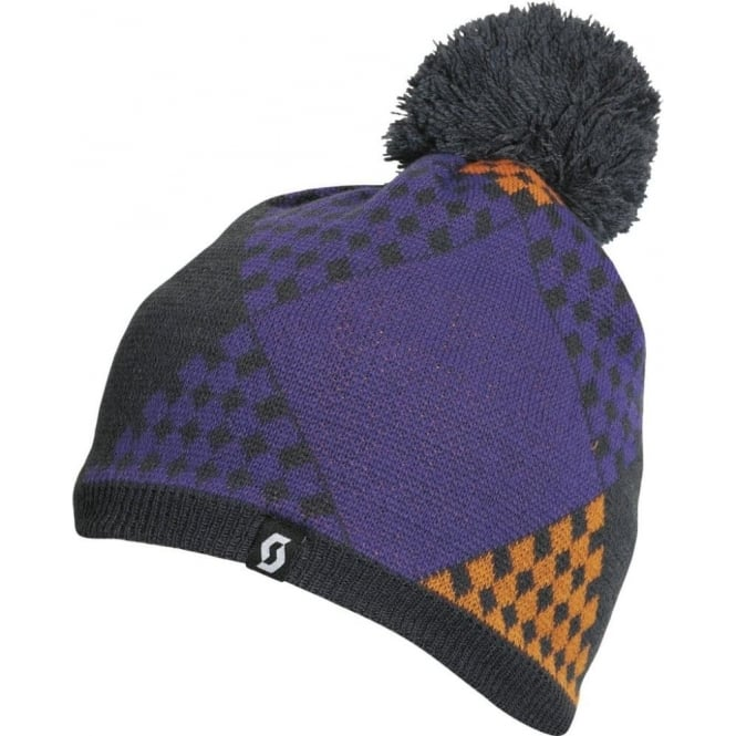 Scott Beanie The Patchwork - Ink Grey/Violet