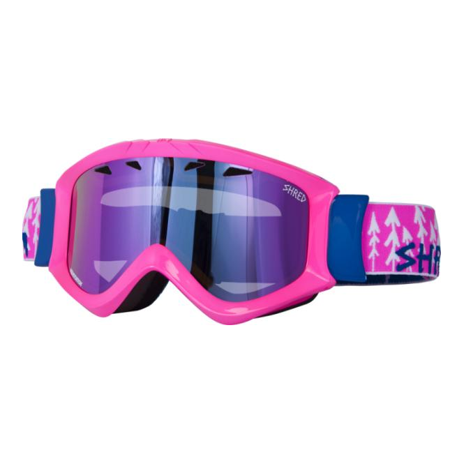 Shred Tastic Goggles - Forest Pink with Quartz Reflect Lens