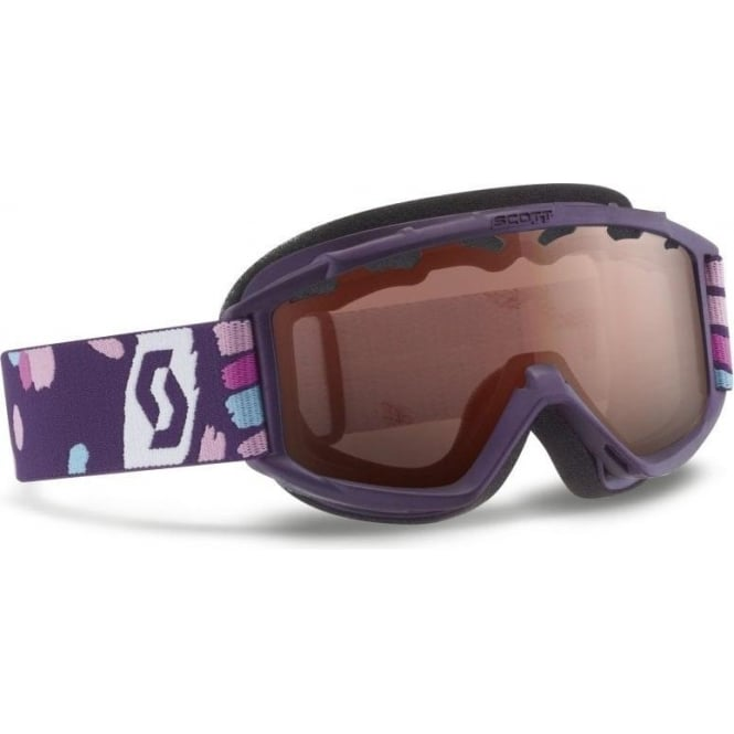 Scott Junior Hook Up Goggles - Purple with Light Amplifier Lens