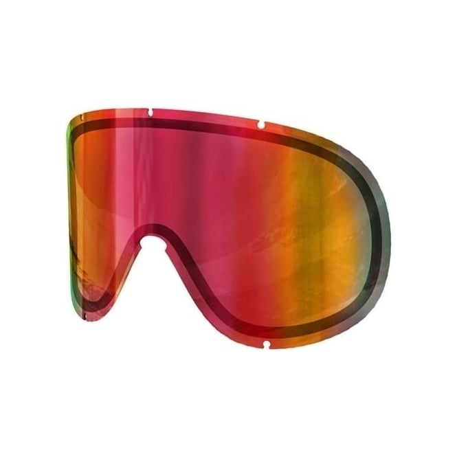 POC Retina Big Double Goggle Lense - Persimmon/Red Mirror