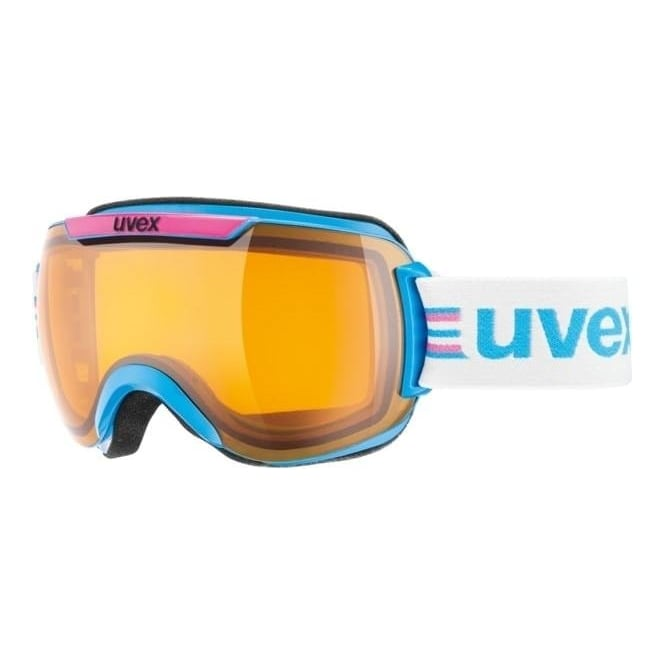 Uvex Downhill 2000 Race Goggle - Cyan/Pink with Laserlight Lens Cat 1