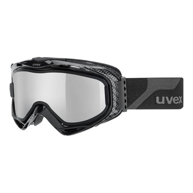 Uvex G.gl 300 TOP (Take-Off Polarvision) Goggles - Black with Silver Mirror S4 + Brown Base Lens S2