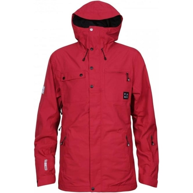 Planks Men's Feel Good 2 Layer Jacket - Red