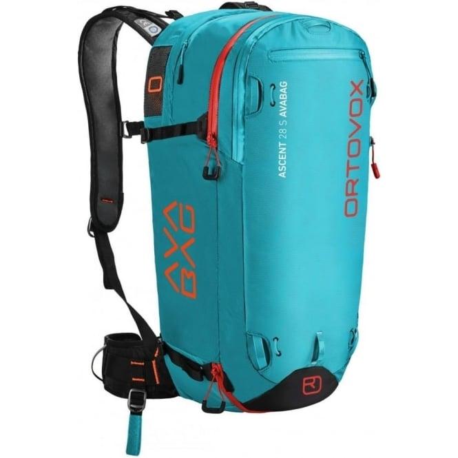Ortovox Ascent 28s Avabag Avalanche Airbag Backpack Aqua Ski