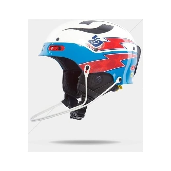 Sweet Protection Slalom Race Helmet Trooper SL Team Edition Henrik Kristoffersen - White/Bird Blue