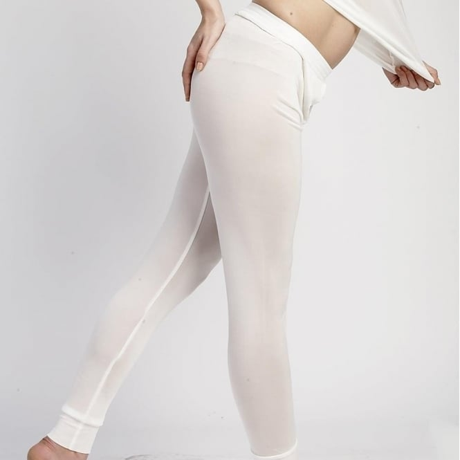 Steiner Wmns Thaw Silk Long Johns - Ivory