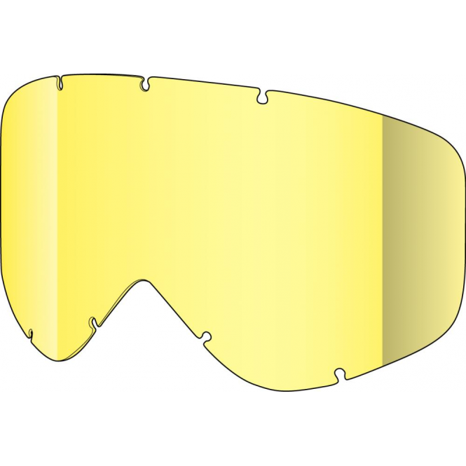 Shred Tastic Single Goggles Lens - Yellow