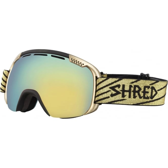 Shred Smartefy Goggles - Light Gold/Cobalt Green/Hero Reflect