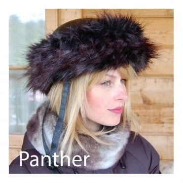 Fur Helmet Headband - Panther