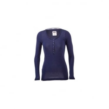 Wmns Base Layer Pop Pop Top - Navy Blue