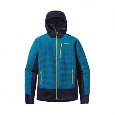 Mens Mid Layer Dual Aspect Hoody - Underwater Blue
