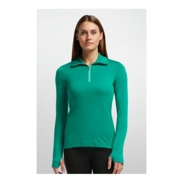 Wmns Base Layer Tech Top L/s Half Zip - Nautical/Patina Green