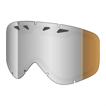 Tastic Double Goggle Lens - Platinum Reflect Caramel/Silver Mirror