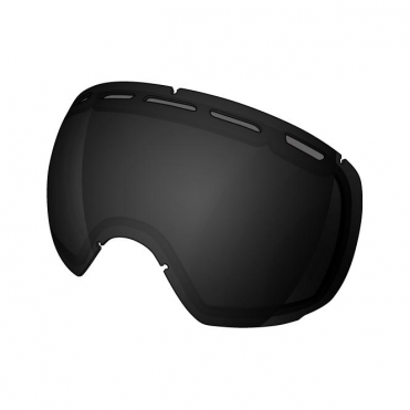 Smartefy Double Goggle Lens - Stealth Reflect Smoke/Black Lens