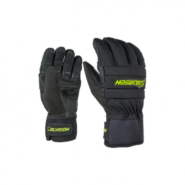 Fortress Park Fingers Ski Gloves - Black/Yellow
