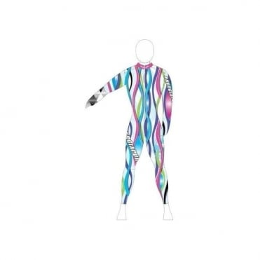 Unpadded Ski Race Catsuit Wave Multi-Pastel