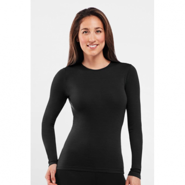 Wmns Everyday Long Sleeve Crewe - Black