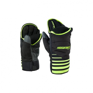 Fortress 3-in-1 Ski Race Glove/Mitten - Black/Yellow