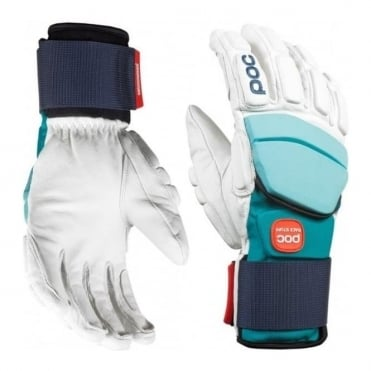 Super Palm Comp Julia Race Gloves - White/Julia Blue