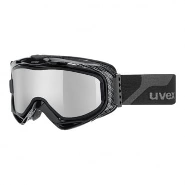 G.gl 300 TOP (Take-Off Polarvision) Goggles - Black with Silver Mirror S4 + Brown Base Lens S2
