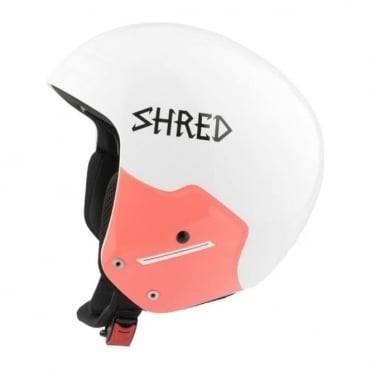 Race Helmet Basher NoShock Whiteout - White (FIS Approved)