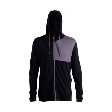Men's Merino Mid-hit Hoody - Black / Charcoal